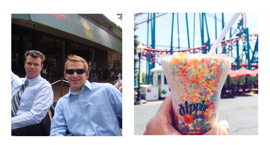 Trevor Spence and Chris Gilliam, bringing Dippin' Dots Ice Cream to the whole of Southern California.